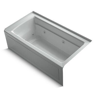 Archer Alcove 60 x 32 Whirpool Bathtub Finish: Ice Grey
