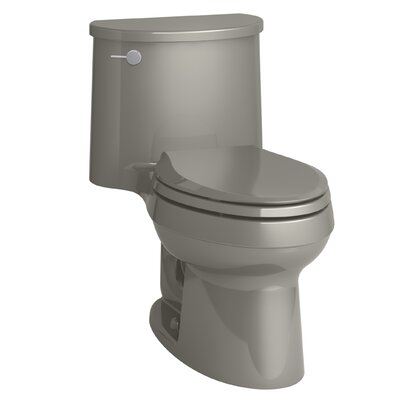 Adair One-Piece Elongated 1.28 GPF Toilet with Aquapiston Flush Technology and Left-Hand Trip Lever Finish: Cashmere
