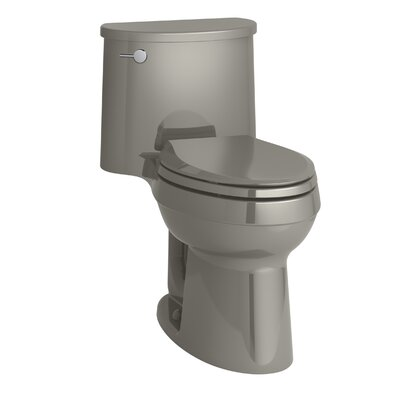 Adair Comfort Height One-Piece Elongated 1.28 GPF Toilet with Aquapiston Flushing Technology and Left-Hand Trip Lever Finish: Cashmere