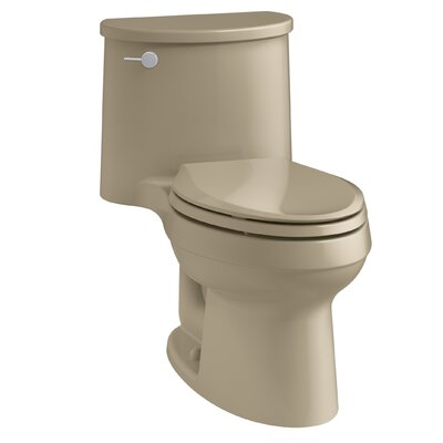 Adair One-Piece Elongated 1.28 GPF Toilet with Aquapiston Flush Technology and Left-Hand Trip Lever Finish: Mexican Sand
