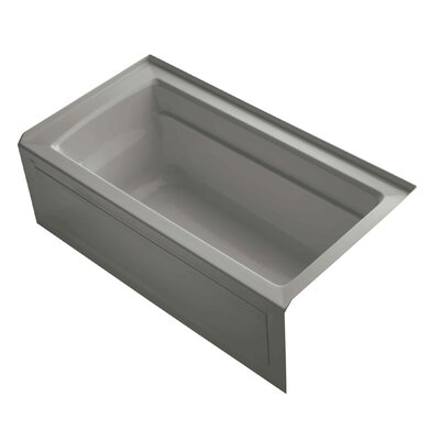 Archer 60 x 32 Alcove Soaking Bathtub Finish: Cashmere