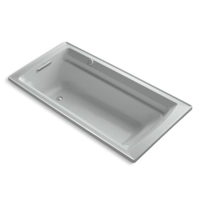 Archer Bubblemassage 72 x 36 Soaking Bathtub Sink Finish: Ice Grey