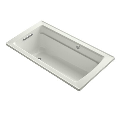 Archer Bubblemassage 60 x 32 Soaking Bathtub Sink Finish: Dune