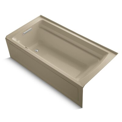 Archer Alcove Bubblemassage 72 x 36 Soaking Bathtub Sink Finish: Mexican Sand