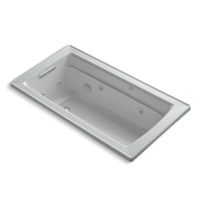 Archer 60 x 32 Whirpool Bathtub Finish: Ice Grey