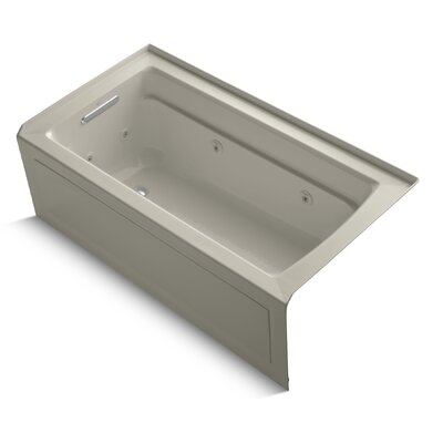 Archer Alcove 60 x 32 Whirpool Bathtub Finish: Sandbar