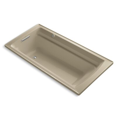 Archer Bubblemassage 72 x 36 Soaking Bathtub Sink Finish: Mexican Sand