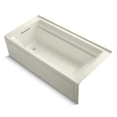 Archer Alcove Bubblemassage 72 x 36 Soaking Bathtub Sink Finish: Biscuit