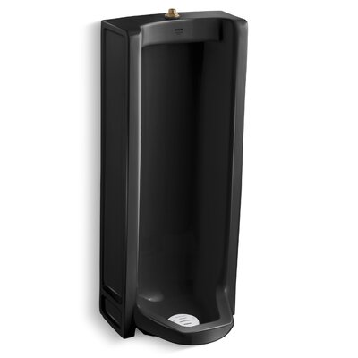 Branham Washout Floor-Mount 1 GPF Urinal with Top Spud Finish: Black Black