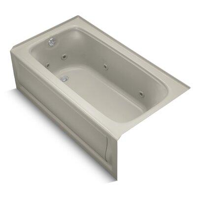 Bancroft Alcove 60 x 32 Whirpool Bathtub Sink Finish: Sandbar