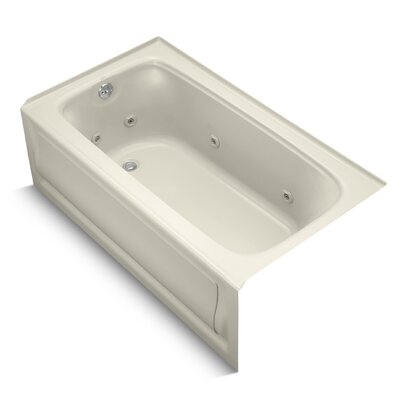 Bancroft Alcove 60 x 32 Whirpool Bathtub Sink Finish: Almond