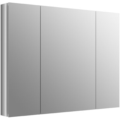 Verdera 40 W x 30 H Aluminum Medicine Cabinet with Adjustable Magnifying Mirror and Slow-Close Door