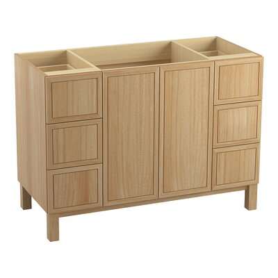 Jacquard� 48 Vanity with Furniture Legs, 2 Doors and 6 Drawers, Split Top Drawers Finish: Khaki White Oak