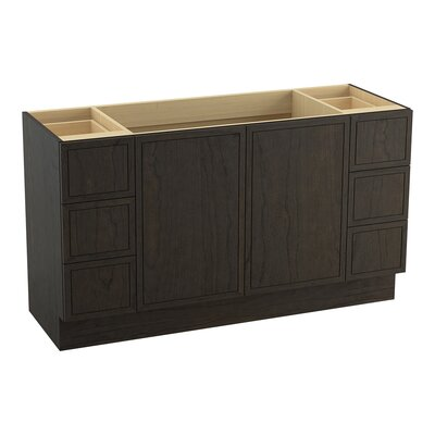 Jacquard� 60 Vanity with Toe Kick, 2 Doors and 6 Drawers, Split Top Drawers Finish: Felt Grey