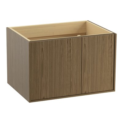 Jute 30 Vanity with 1 Door and 1 Drawer on Right Finish: Walnut Flax