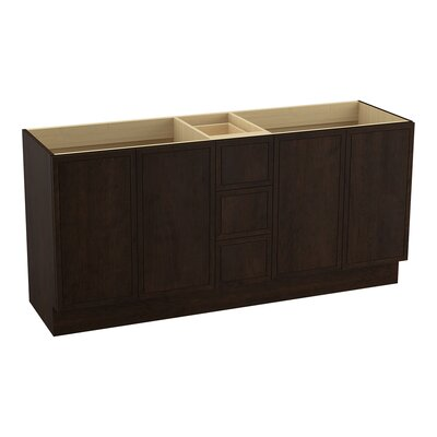 Jacquard� 72 Vanity with Toe Kick, 4 Doors and 3 Drawers, Split Top Drawer Finish: Claret Suede