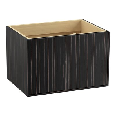 Jute 30 Vanity with 1 Door and 1 Drawer on Right Finish: Ebony Velour