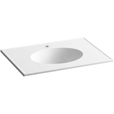 Ceramic Impressions 31 Single Bathroom Vanity Top Top Finish: White Impressions