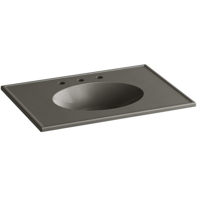 Ceramic Impressions 31 Console Bathroom Sink with Overflow Finish: Cashmere Impressions