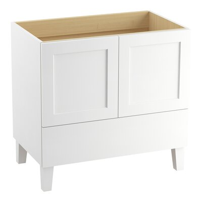 Poplin 36 Vanity with Furniture Legs, 2 Doors and 1 Drawer Finish: Linen White