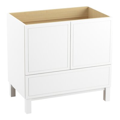 Jacquard 36 Vanity with Furniture Legs, 2 Doors and 1 Drawer Finish: Linen White