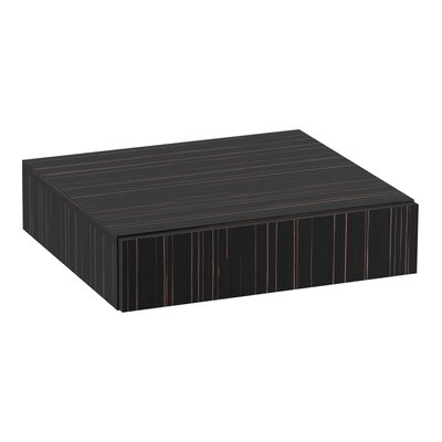 Jute� Lap Drawer Finish: Ebony Velour