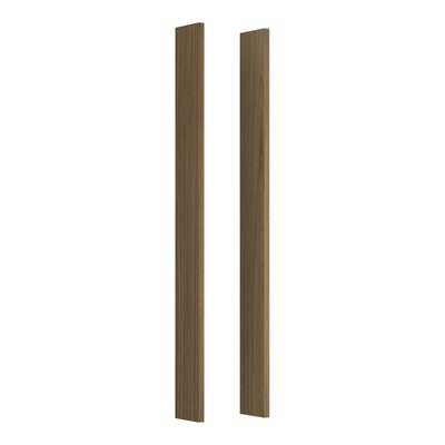Verdera Medicine Cabinet Wood Side Kit for Tailored Vanities Organizers Finish: Walnut Flax
