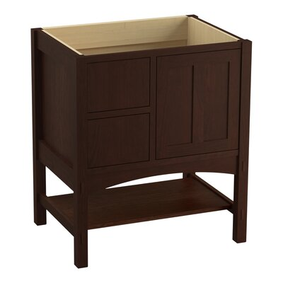 Marabou� 30 Vanity with 1 Door and 2 Drawers on Left Finish: Cherry Tweed