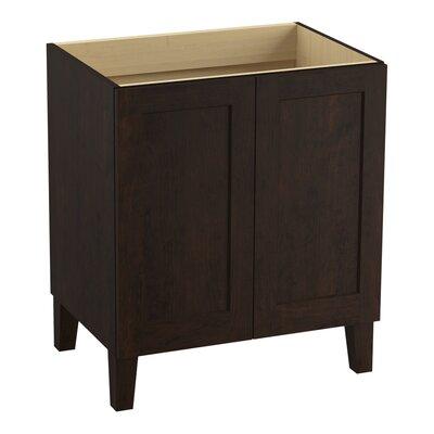 Poplin Tones 30 Vanity with Furniture Legs and 2 Doors Finish: Claret Suede