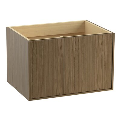 Jute� 30 Vanity with 1 Door and 1 Drawer on Left Finish: Walnut Flax