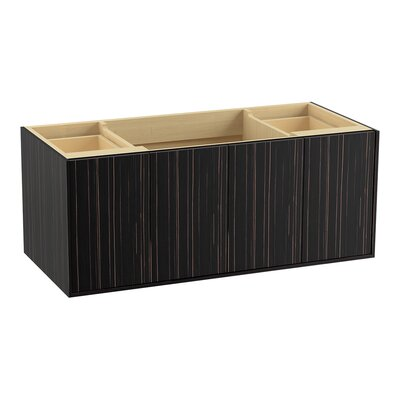 Jute 48 Vanity with 2 Doors and 2 Drawers, Split Top Drawer Finish: Ebony Velour