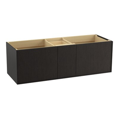Jute� 60 Vanity with 2 Doors and 1 Split Drawer Finish: Satin Oak