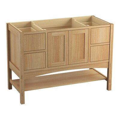Marabou� 48 Vanity with 2 Doors and 4 Drawers Finish: Khaki White Oak
