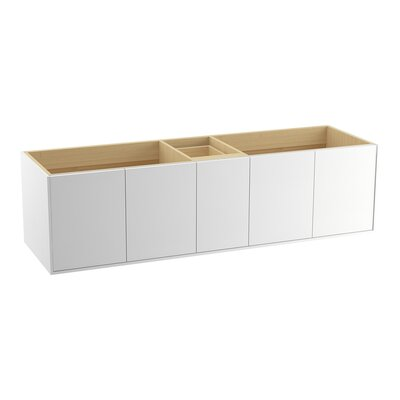 Jute 72 Vanity with 4 Doors and 1 Drawer Finish: Linen White