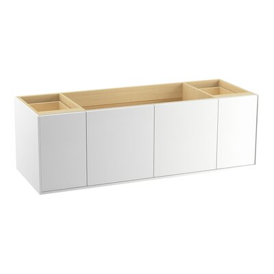 Jute� 60 Vanity with 2 Doors and 2 Drawers Finish: Linen White