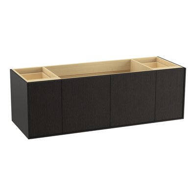 Jute� 60 Vanity with 2 Doors and 2 Drawers Finish: Satin Oak