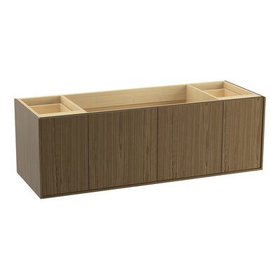 Jute 60 Vanity with 2 Doors and 2 Drawers Finish: Walnut Flax