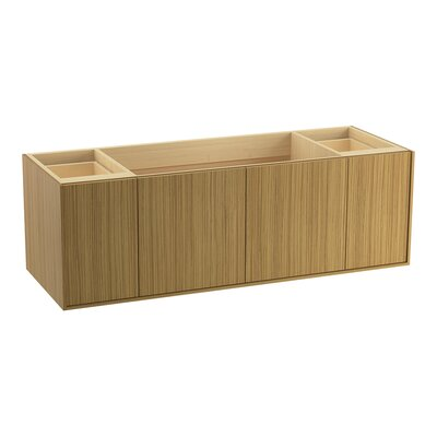 Jute� 60 Vanity with 2 Doors and 2 Drawers Finish: Corduroy Teak
