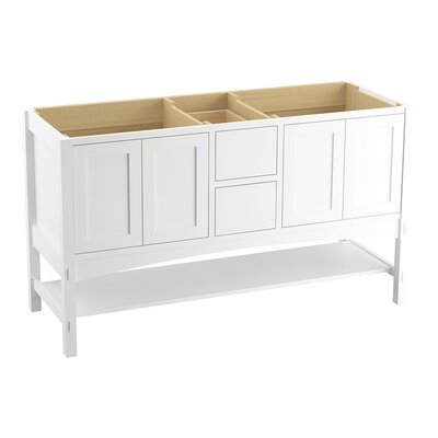 Marabou 60 Vanity with 4 Doors and 2 Drawers Finish: Linen White