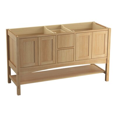 Marabou 60 Vanity with 4 Doors and 2 Drawers Finish: Khaki White Oak