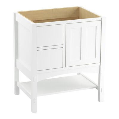 Marabou� 30 Vanity with 1 Door and 2 Drawers on Left Finish: Linen White