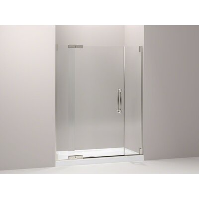 Shower Door Assembly Kit (Glass and Handle Kit Not Included) Finish: Brushed Nickel