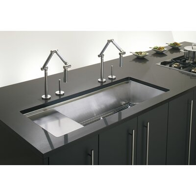 Stages 45 x 18-1/2 x 9-13/16 Undermount Single-Bowl with Wet Surface Area Kitchen Sink