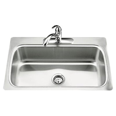 Verse 33 x 22 x 8-1/4 Top-Mount Single-Bowl Kitchen Sink with Single Faucet Hole