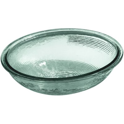Artist Editions Whist Glass Oval Undermount Bathroom Sink Finish: Translucent Dew