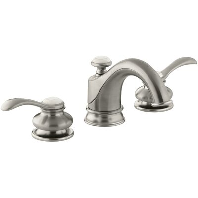 Fairfax Widespread Double Handle Bathroom Faucet with Drain Assembly Finish: Vibrant Brushed Nickel