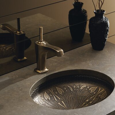 Briolette Glass Circular Vessel Bathroom Sink