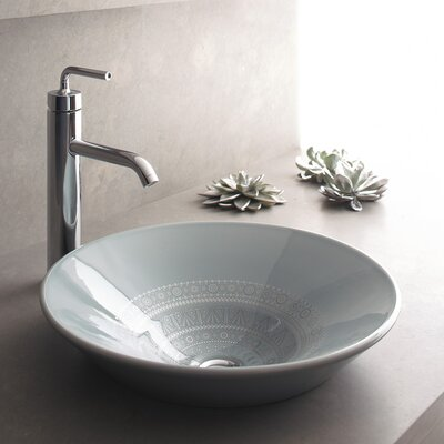 Artist Editions Caravan Circular Vessel Bathroom Sink