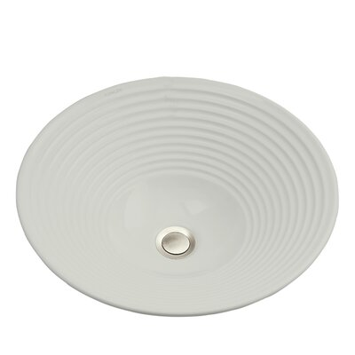 Turnings Ceramic Circular Vessel Bathroom Sink Sink Finish: Earthen White
