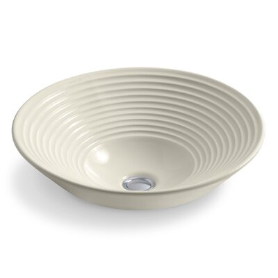 Artist Editions Turnings Above-Counter Circular Vessel Bathroom Sink Sink Finish: Almond